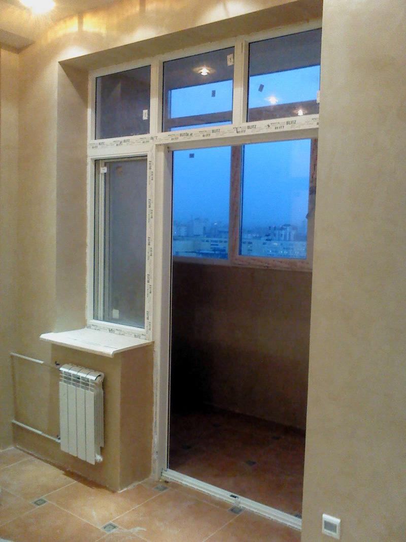 Раздвижные двери на балкон в квартире цена..