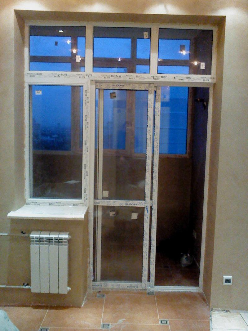 Раздвижные пвх двери на балкон..
