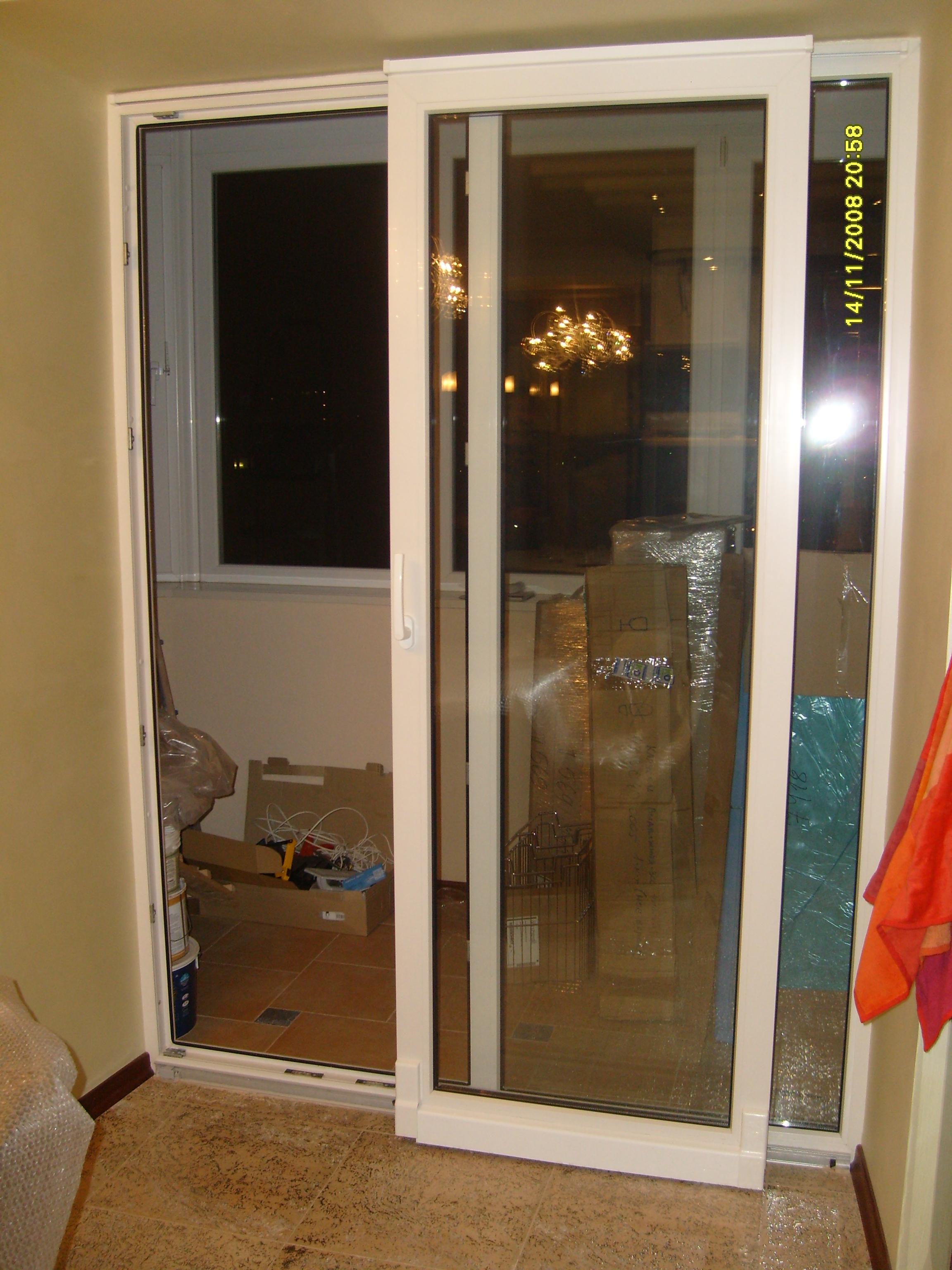 Как установить балконную пластиковую раздвижную дверь..