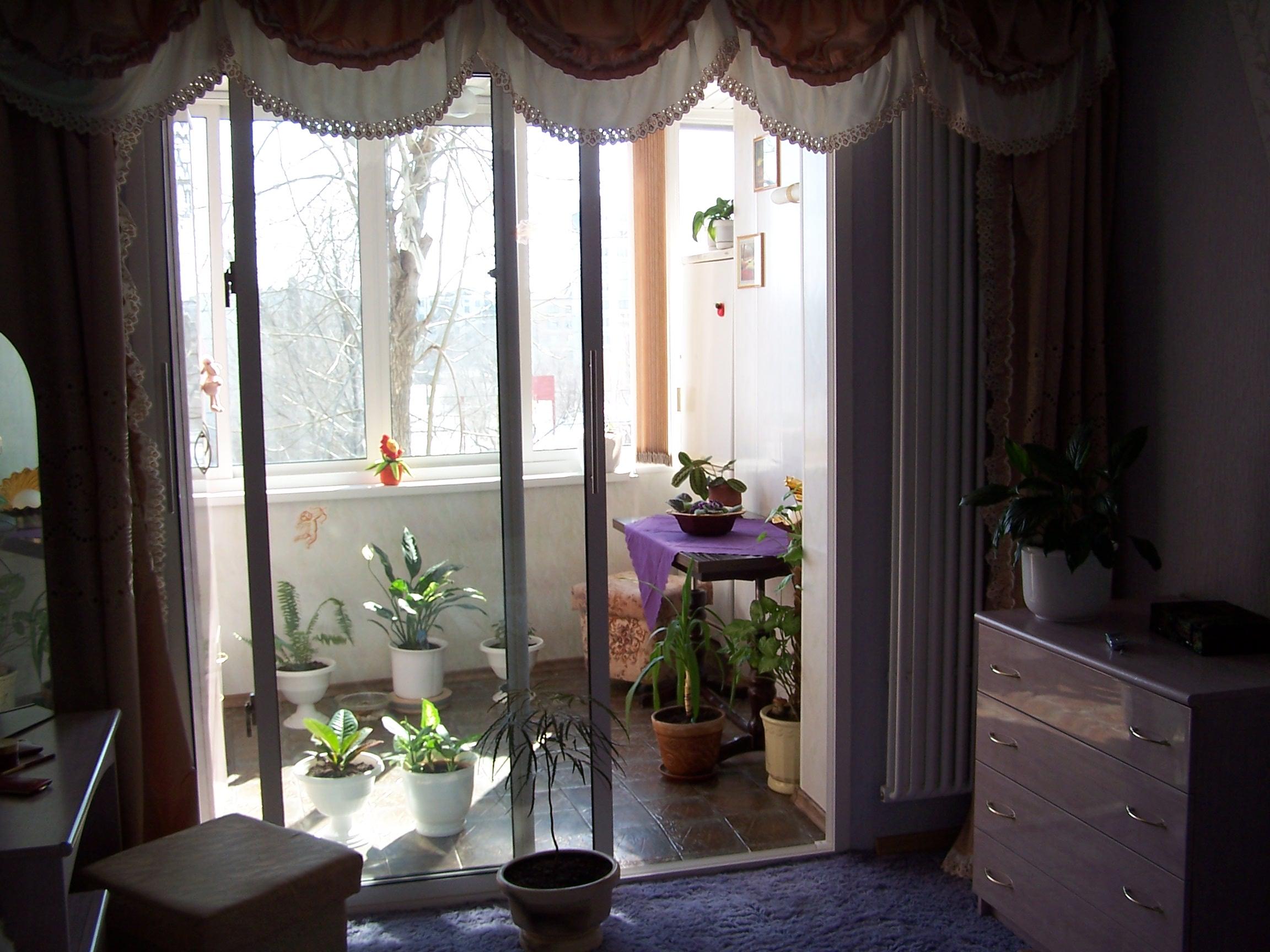 Дизайнерский выход на балкон. - лоджии - каталог статей - ба.